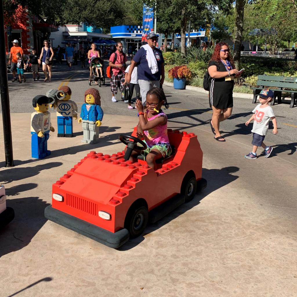 Girl with cerebral palsy enjoying LEGOLAND Florida