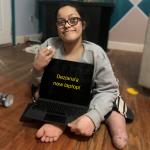Deziana with laptop