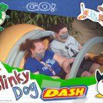 Teen boy with Chiari malformation enjoying the Slinky Dog Dash ride at Disney