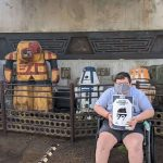 Teen boy with Chiari malformation just finished riding the Rise of Resistance of Disney