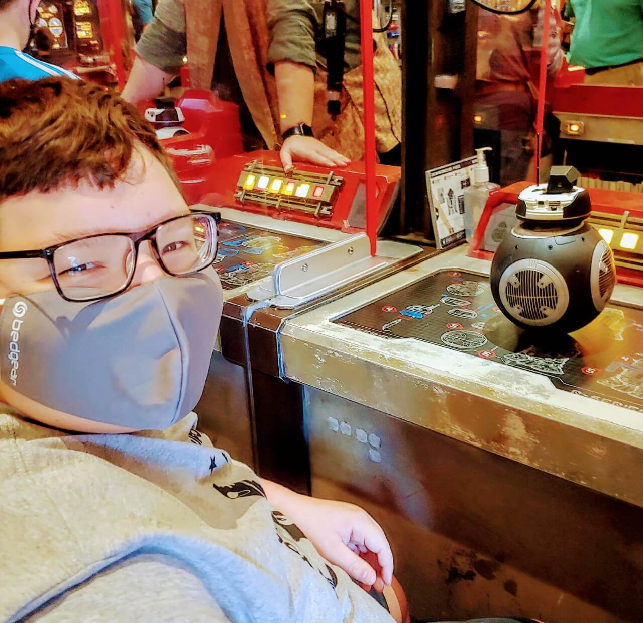 Teen boy with Chiari malformation building a droid at Disney
