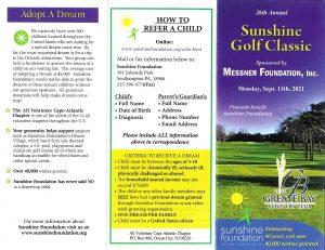 Sunshine Golf Classic 2021 Registration, page 1