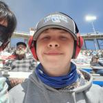 Teen boy with schizencephaly watches Bristol Motor Speedway